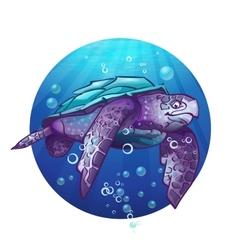Cartoon image of a sea turtle vector image
