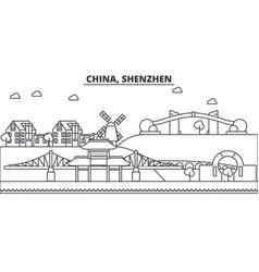 china shenzhen architecture line skyline vector image vector image