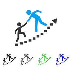 education progress flat icon vector image vector image