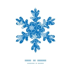 Falling snowflakes christmas snowflake silhouette vector