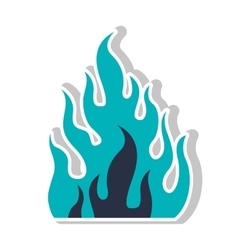Fire flame burning vector