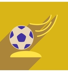 Flat web icon with long shadow soccer ball vector