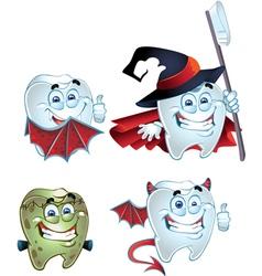 fun Halloween tooth vector image