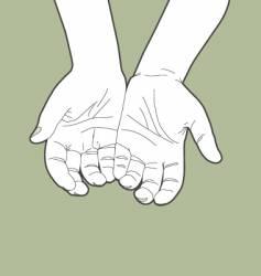 Giving hands vector