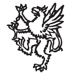 Griffon vintage vector