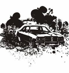 grunge car vector image