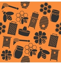 Honey color collage vector image