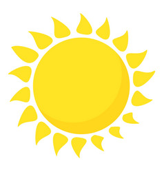 Hot sun icon cartoon style vector