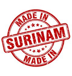 Made in surinam vector