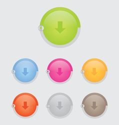 round download button bar vector image vector image