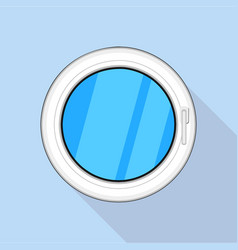 round window icon flat style vector image vector image
