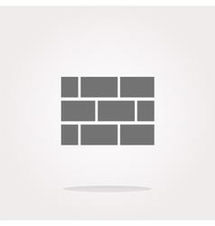 stone wall icon button vector image vector image
