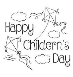 Style design children day doodle vector
