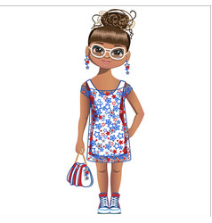 summer girl is fashion vector image