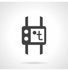 Temperature control black design icon vector