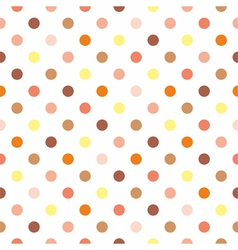 Tile polka dots on white background vector image vector image