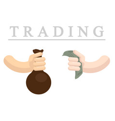 trading flat vector image vector image