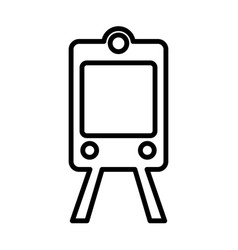 Train subway line icon outline sign logo vector