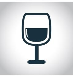 Wine glass black icon vector image