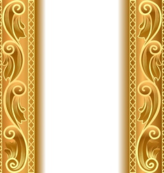 Vintage gold strip frame vector