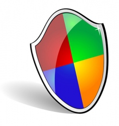web security sheld vector image