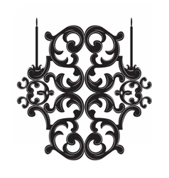 Classic baroque style wall lamp vector