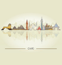 Travel and tourism concept cairo architecture vector