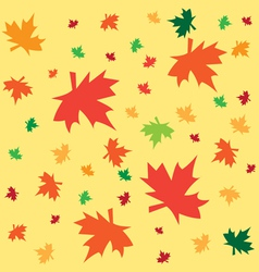 Autumn background from leaves vector image