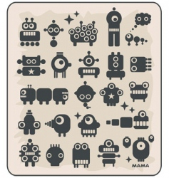 Robot monsters vector
