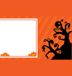 Halloween background for greeting card vector