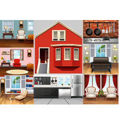 Different rooms in the house vector
