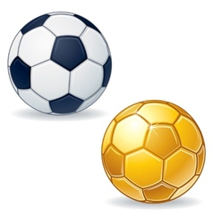 Gold Soccer Ball vector image