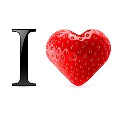 I love strawberry vector image