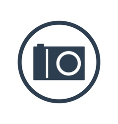 Digital camera flat icon vector