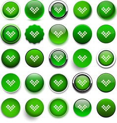 Round green download icons vector