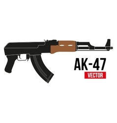 Russian rifle ak47 vector