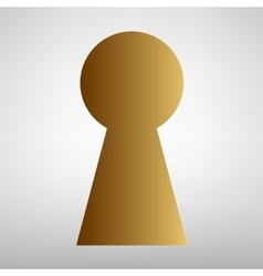 Keyhole sign flat style icon vector