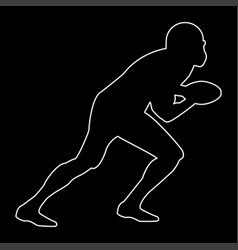 American football player the white path icon vector