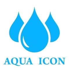 aqua icon vector image vector image