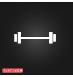 Barbell - Single Icon vector image