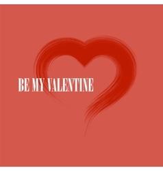 Be My Valentine Romantic Banner vector image