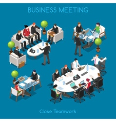 Business 01 People Isometric vector image