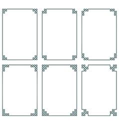 Celtic frames vector