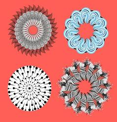 Collection of abstract ornamental elements vector