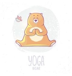 color yoga bear vector image vector image