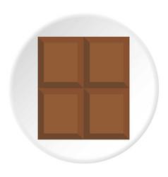 Dark milk chocolate bar icon circle vector