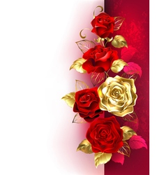 Design with Red Roses vector image