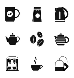 Drink icons set simple style vector