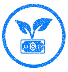 Eco startup gain rounded grainy icon vector