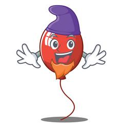 Elf balloon character cartoon style vector